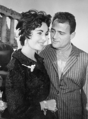 Actress Elizabeth Taylor and Mike Todd visiting Athens